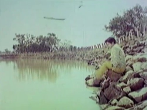 Scene from the movie Bangarada Manushya shot at Rajaghatta Lake