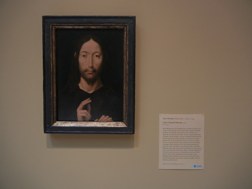 DSCN7682 _ Christ Giving His Blessing, 1478, Hans Memling (c. 1430_40-1494), Norton Simon Museum, July 2013