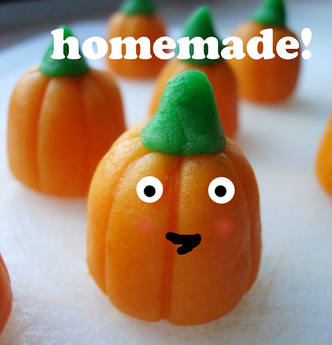 Homemade mellowcreme pumpkins