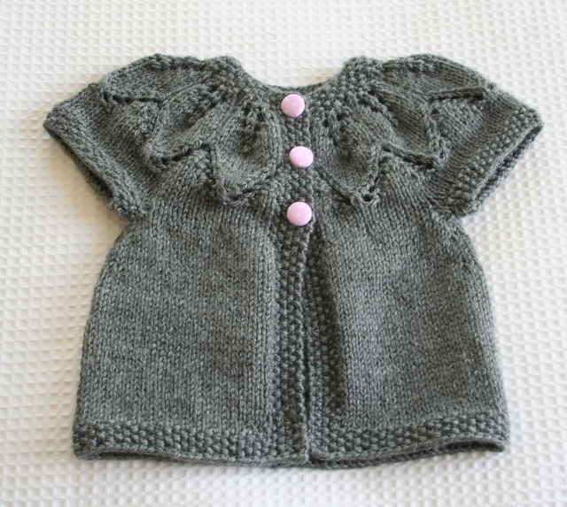 Grey Leaves Cardigan
