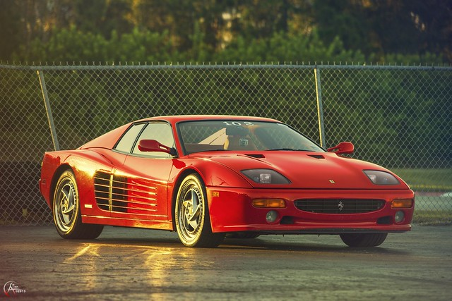 Ferrari 512M at Sunset