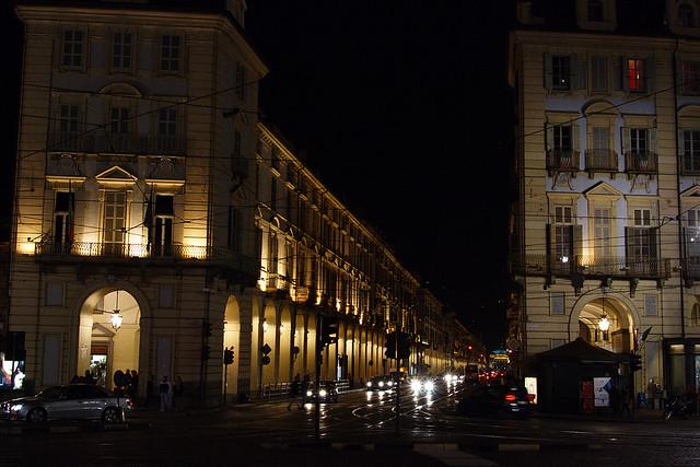 Turin Street At Night