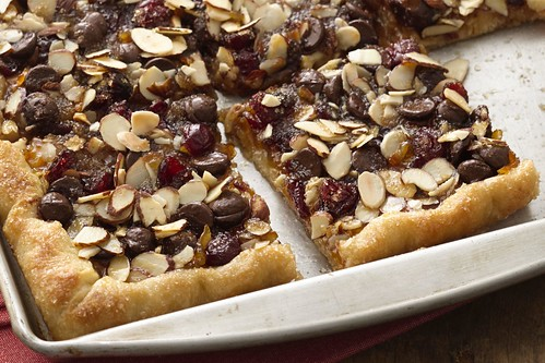 Cranberry orange flatbread