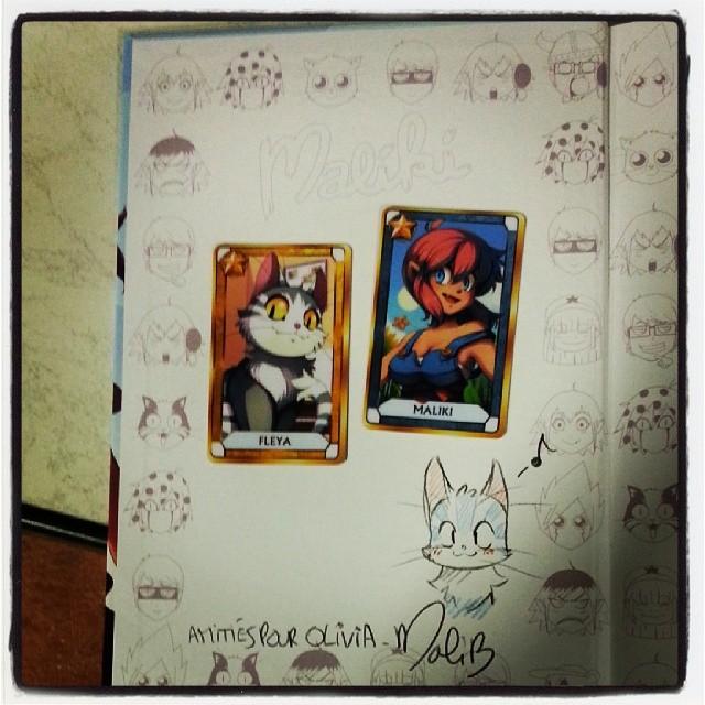 J'ai eu ma dédicace de Maliki + 2 cartes ♥♡♥ #maliki #ourlittlefamily #france