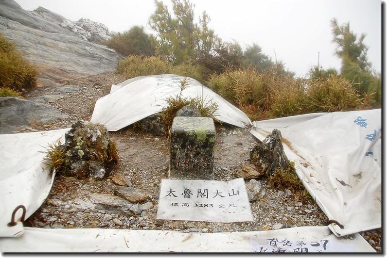 太魯閣大山二等三角點(#1463 Elev. 3283 m)