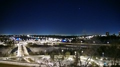 The River Valley looks nice tonight from the top of the hill #yeg