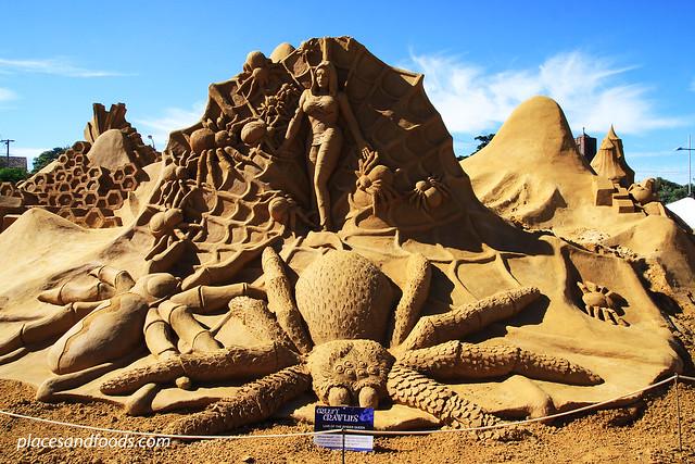 frankston sand sculpting lair of queen spider