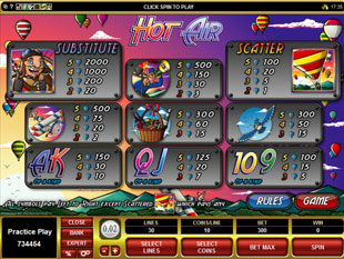 Hot Air Slots Payout