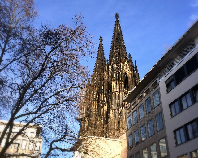 Blue skies over Cologne