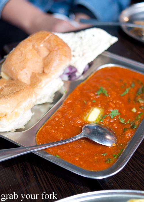 Pav bhaji at Chatkazz Harris Park
