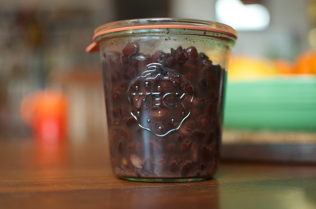 pressure canned black beans