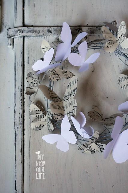 ghirlanda farfalle di carta