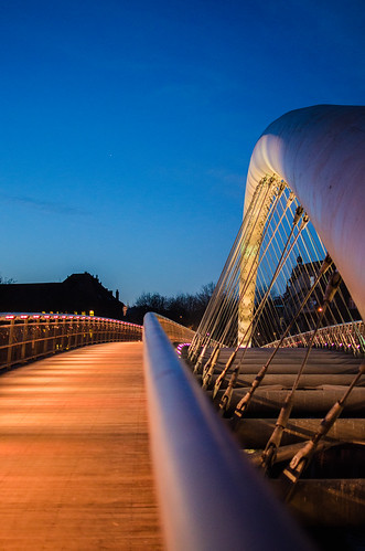 bridge art night 35mm evening nikon view krakow ponte vista nikkor f18 cracovia sera jbg d7000