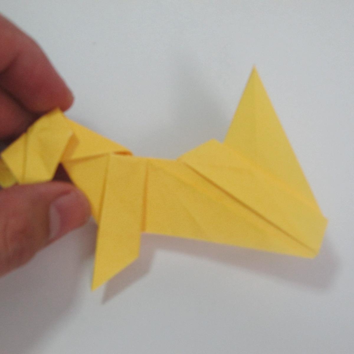 สอนวิธีพับกระดาษเป็นรูปลูกสุนัขยืนสองขา แบบของพอล ฟราสโก้ (Down Boy Dog Origami) 108
