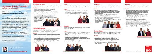 Flyer SPD-Gemeinderatsliste Seefeld 2014