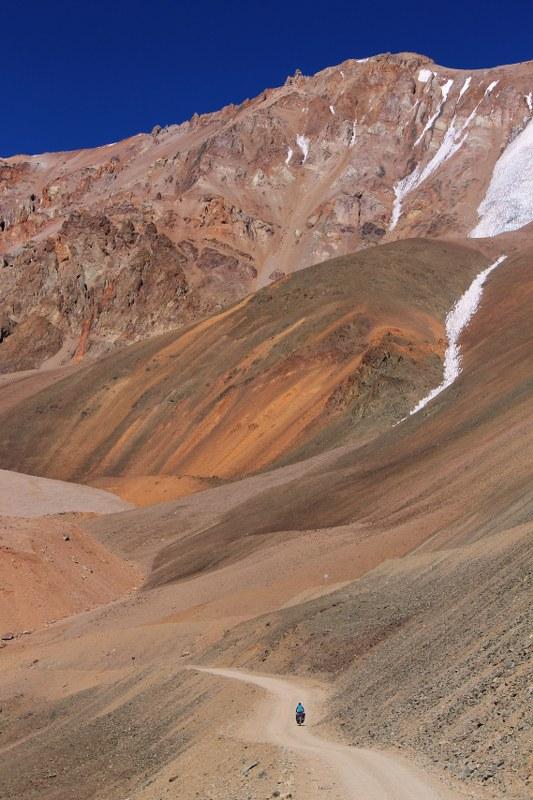 Climbing to Paso Agua Negra