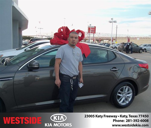 Happy Anniversary to Jose Antonio Lopez on your 2013 #Kia #Optima from Guzman Gilbert and everyone at Westside Kia! #Anniversary by Westside KIA