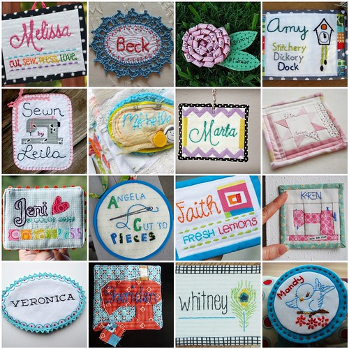 Name Tag Collage | by Saltwater Quilts