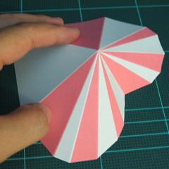 วิธีทำโมเดลกระดาษเป็นกล่องของขวัญรูปหัวใจ (Heart Box Papercraft Model) 013