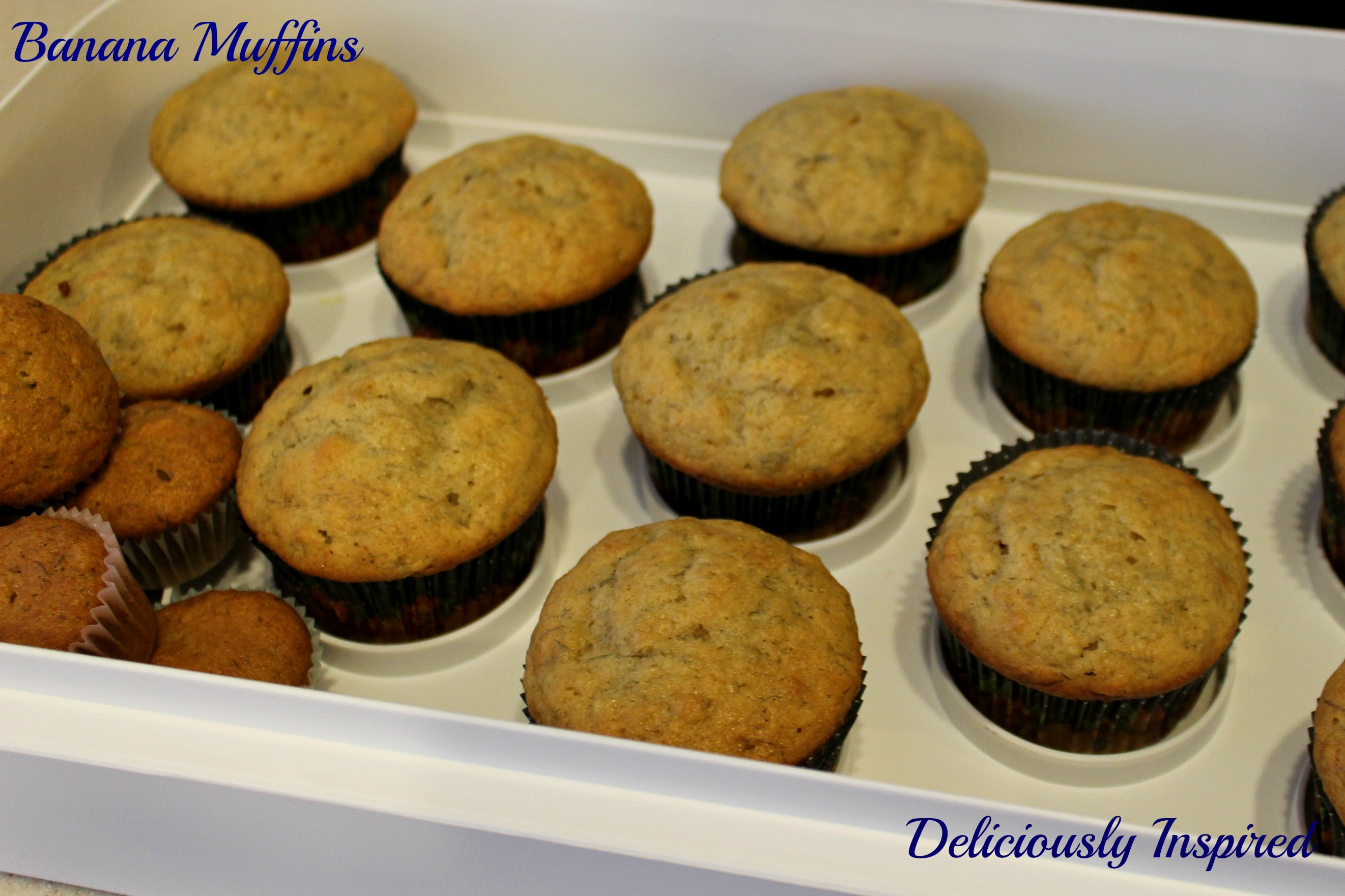Banana Muffins - Big and Small