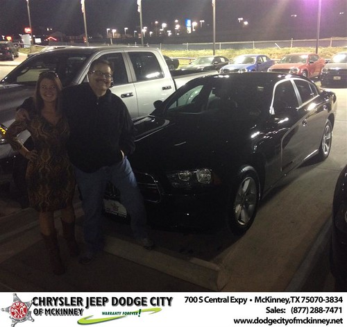 Thank you to Robert Uekert on your new 2014 #Dodge #Charger from Stevie Parham and everyone at Dodge City of McKinney! by Dodge City McKinney Texas