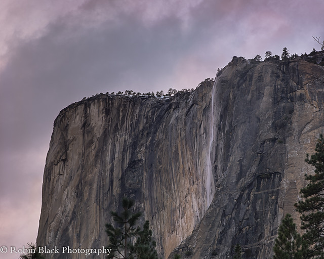 After the Fire (Horsetail Fall, Evening, Yosemite National Park)