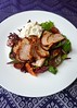 Blood Orange-Sugar-and-Rosemary Rubbed Pork Tenderloin Salad with Burrata