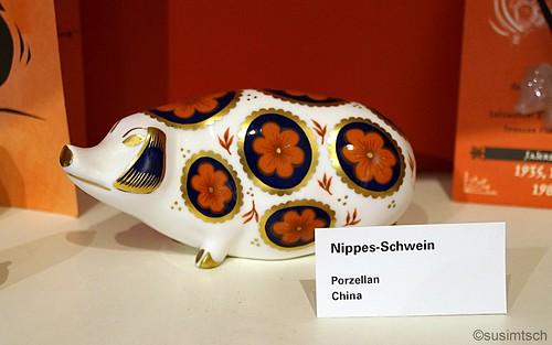 Chinesisches Porzellanschwein