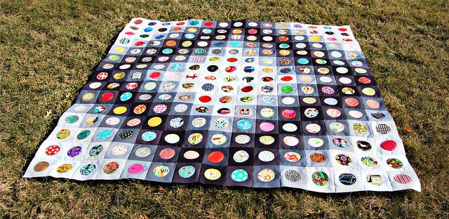On the Bubble Quilt Top A