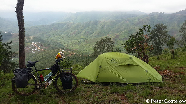 Camping in no-mans land.