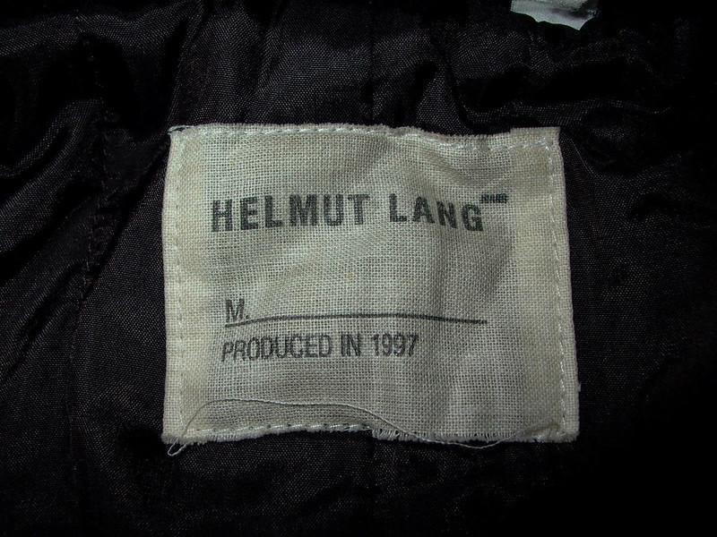 Helmut Lang VIntage Label 1997