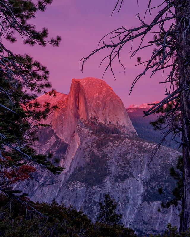 Sunset Alpenglow on Half Dome