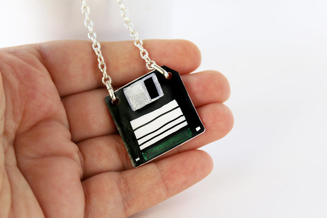 Collana Foppy disk verde 03