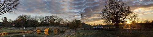 uk england sunrise northamptonshire northants fotheringhay fotheringhaybridge fotheringhaysunrise