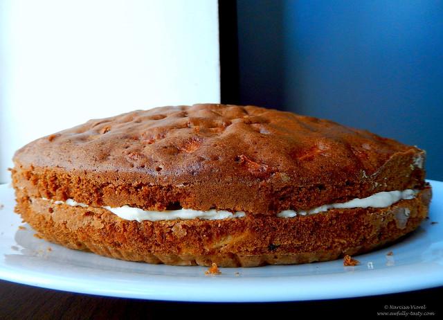 tort cu mere si crema de branza