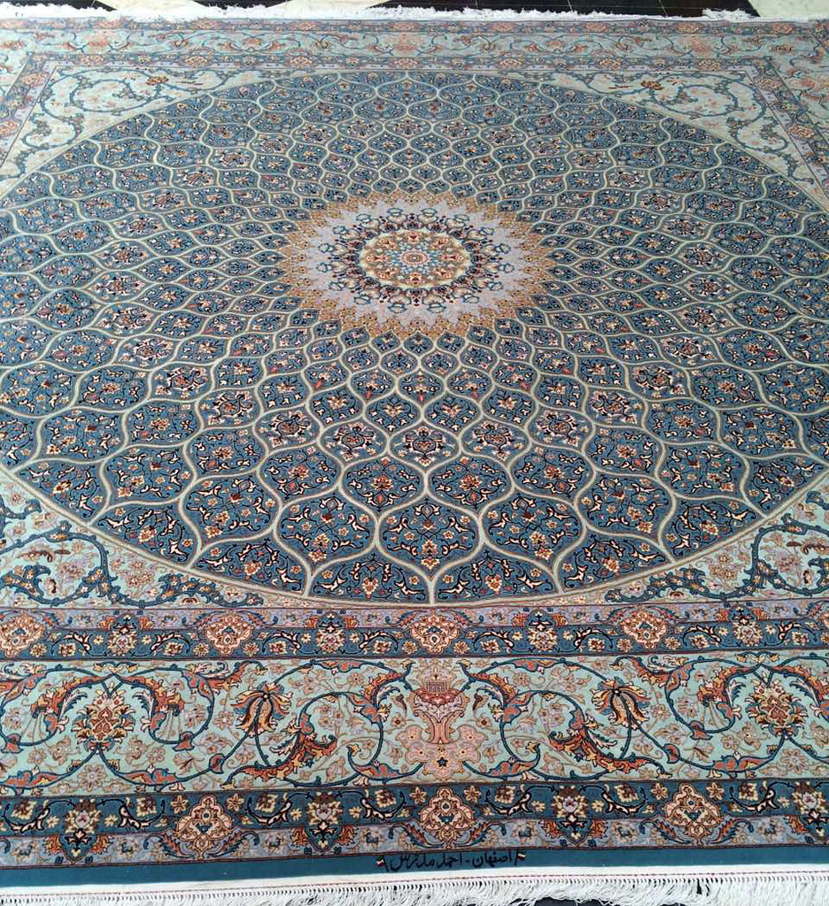 Isfahan 365x365 cm Tak Kheft Modarres Persian Area Rug Square (4)