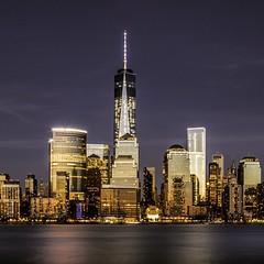 Golden Manhattan Skyline