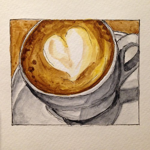 The Coffee Ethic cappuccino watercolor.