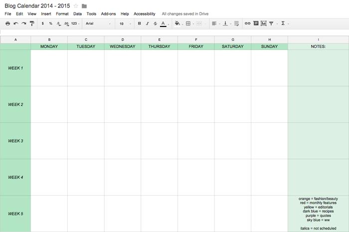 how to create an editorial calendar 2