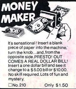 Money Maker ad