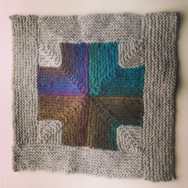 Square number 10 - just 2 more left to knit!