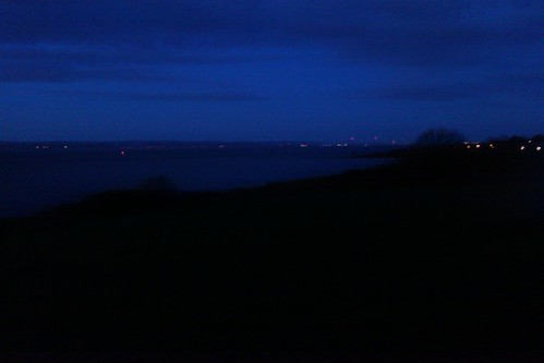 The lights of the Severn estuary