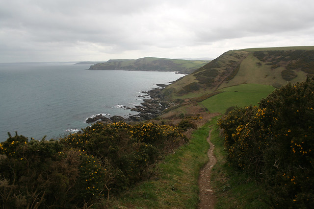 The coast path west of Polperro