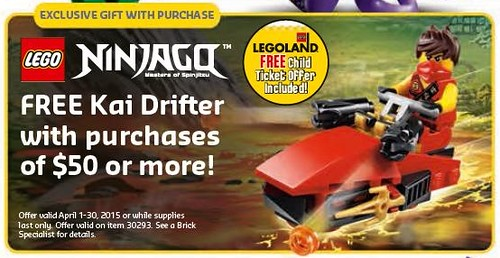 LEGO Shop April 2015 Ninjago Promotion