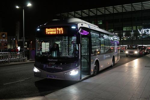 Menzies YN64 FWZ on Business Parking T1,2,3, Heathrow Terminal 3