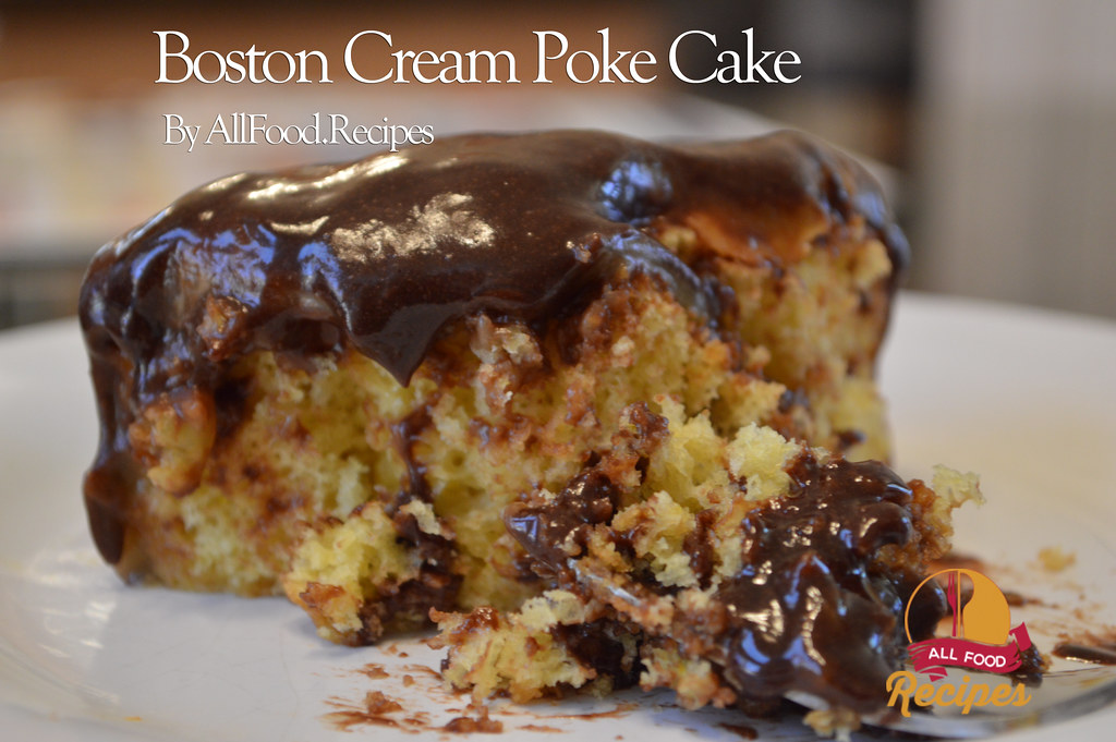 Boston Cream Poke Cake Tasty