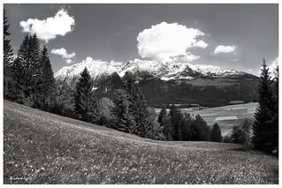 LES ALPES Grimming mountain Spring Landscape Styria Austria (c) 2015 Бернхард Эггер :: ru-moto images 3564 mono