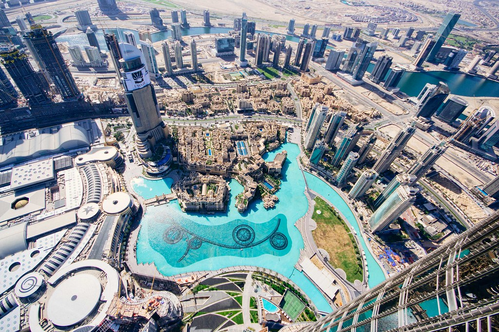 Dubai from above Burj Khalifa