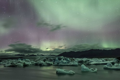 Jökulsárlón, Iceland - Northern Lights