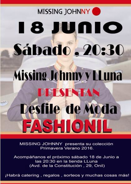 Desfile de moda FASHIONIL, organizado por Missing Johnny